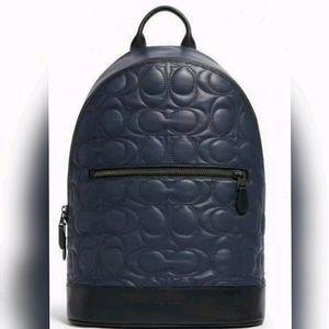💥 Coach Signature Leather Designer BACKPAC bag